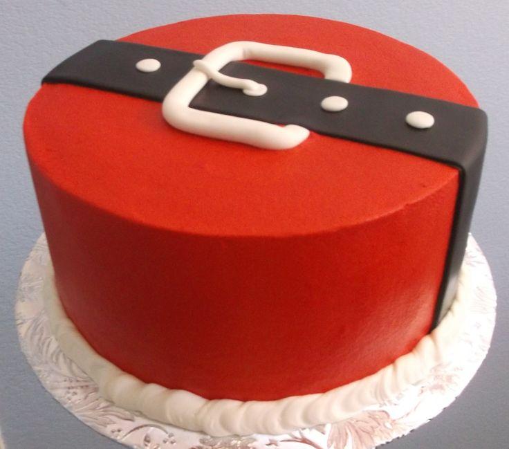 santa belt cake