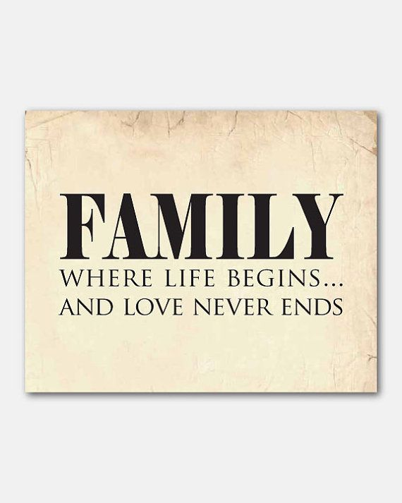 Family where life begins...and love never by SusanNewberryDesigns, $15.00