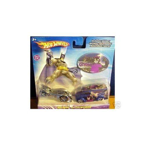 AmazonSmile: Hot Wheels DC Comics Batman vs Catwoman 1:64 Scale Die Cast Car 2 Pack Mattel: Toys & Games