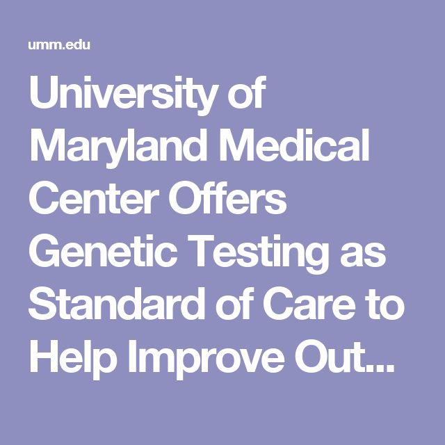 University of Maryland Medical Center Offers Genetic Testing as Standard of Care to Help Improve Outcomes for Heart Stent Patients | University of Maryland Medical Center