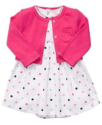 Carter's Baby Set, Baby Girls Polka-Dot Dress and Sweater - Kids Newborn Shop - Macy's