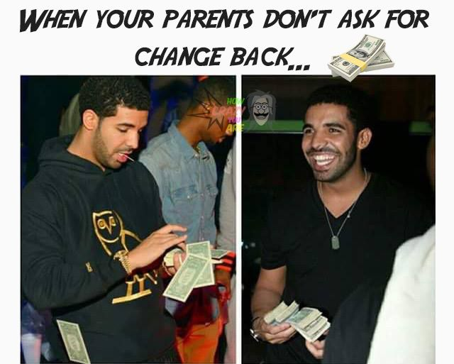 When your #parents don't ask for #change back...