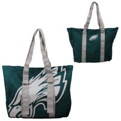 Philadelphia Eagles Ladies Big Logo Tote - Midnight Green/Gray ...