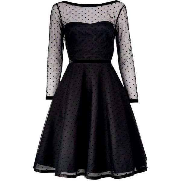 Marc By Marc Jacobs Polka Dot Tulle Dress (£775) ❤ liked on Polyvore featuring dresses, black, full skirt, black full skirt, marc by marc jacobs, slimming dresses and full tulle skirt
