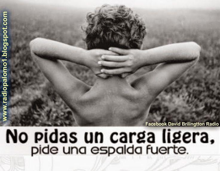 No pidas una carga ligera,pide una espalda fuerte.... ~ Radio Palomo