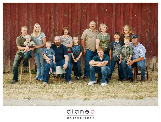 large family group
