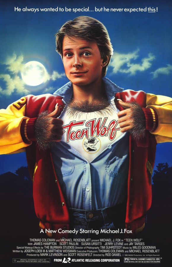 Teen Wolf (1985) PG - Just because you're a supernatural creature of the night is no reason to undervalue the importance of high school sports.
