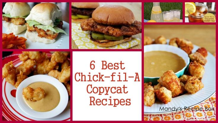 6 Best Chick-fil-A Copycat Recipes | AllFreeCopycatRecipes.com: Food Copycat Recipes, Copy Cat, Chicken Recipes, Allfreecopycatrecipes With, Copycat Recipes No, Chick Fil A Copycat, Favorite Recipes, Copycat Restaurant