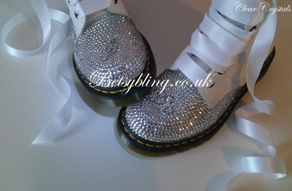 Wedding Dr Martens Custom crystal Dr Martens by BetsyBlingUk, £165.60