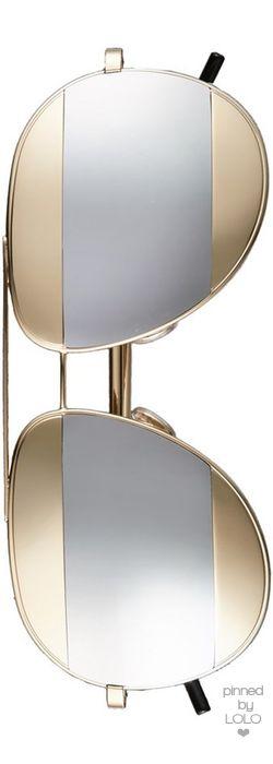 Christian Dior 'Split' 59mm Aviator Sunglasses   LOLO❤︎