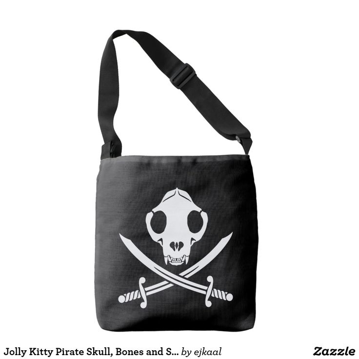Jolly Kitty Pirate Skull, Bones and Sabres