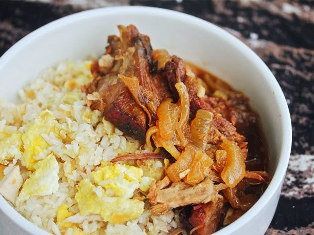 Superb Slow Cooker Filipino Pork With Garlic Fried Rice