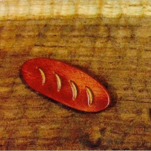 【Leather.com】革パンブローチ(フランスパン) (5984)