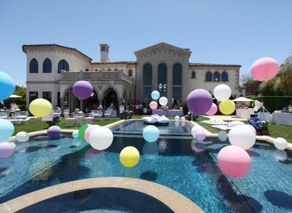 Baby Shower Pool Party Ideas find this pin and more on little swimmer baby shower pool party 15 Ideas For Balloon Decorations Floating Pool Balloons Mazelmomentscom Wedding Balloonsbirthday Balloonsbaby Shower