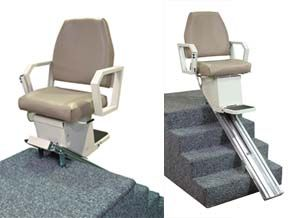 The AmeriGlide Heavy Duty Stair Lift Comes With A Spacious Seat And A 500  Pound Weight