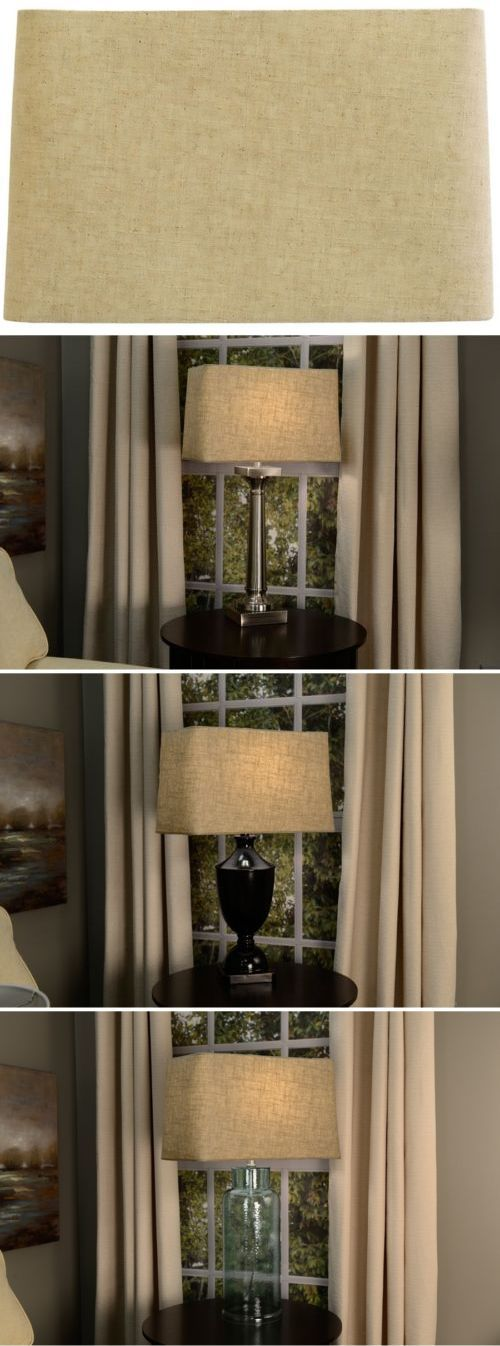 Lamp Shades 20708: Allen + Roth 10-In X 16-In Tan Linen Fabric Rectangle Lamp Shade Light Parts -> BUY IT NOW ONLY: $32.99 on eBay!