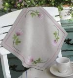 Pink Clover Mat - 31 x 31cm Embroidery Kit