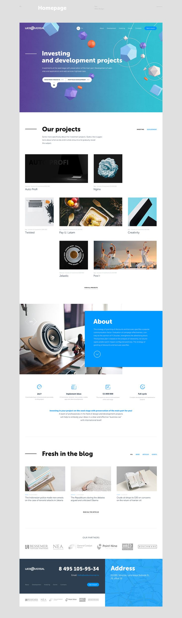 The website portfolio of the agency Web Universal.