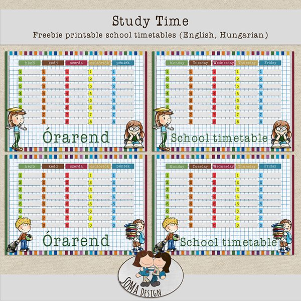 how to create a school timetable