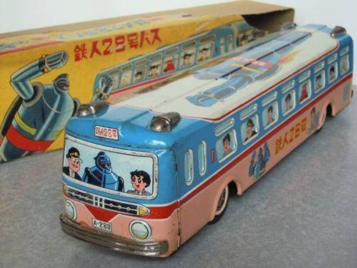 ASAKUSA-Antique-Japanese-TETSUJIN-28-Robot-Bus-Tin-Toy-with-BOX