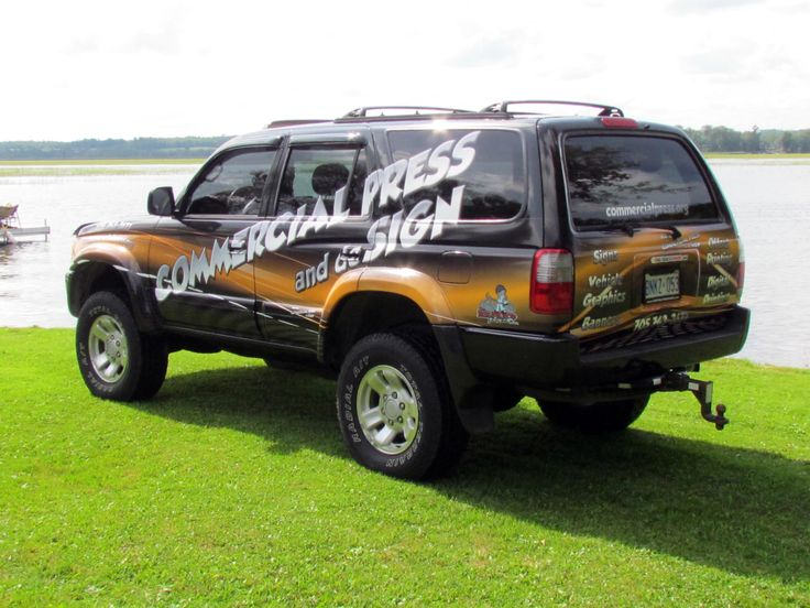 Ask us about our Vehicle Wrap Service. One of the most cost effective ways to re-enforce your brand.