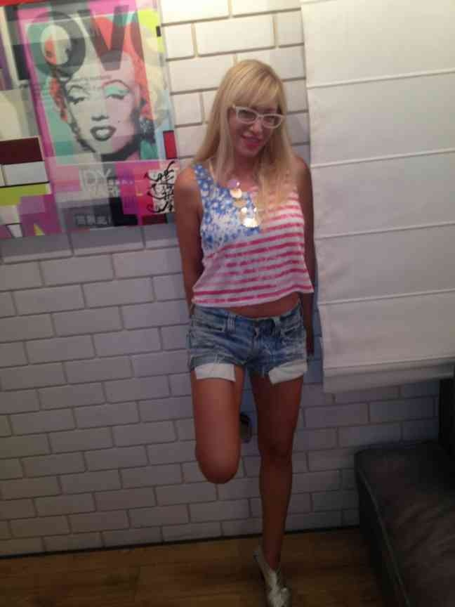 my favorite shorts with the american flaf shirt ...cool look