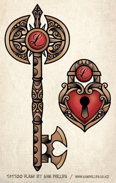 Like Others Hottest Sams Blog Locket And Key Pair Tattoos Wallpaper
