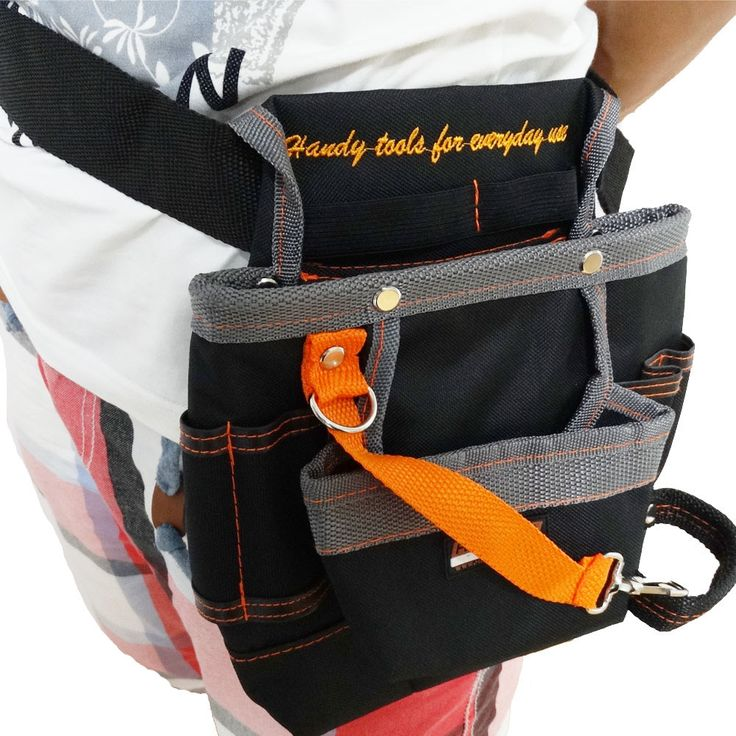 High Quality 8 Pockets Oxford Tool Pouch Electrician Tools Bag Electrician Tool Belt Waist Pocket Tool Belt Pouch Work Belt ZK44