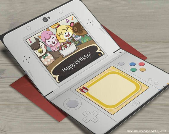 New 3ds Games 2020.Animal Crossing New Leaf Nintendo 3ds Happy Birthday Card By