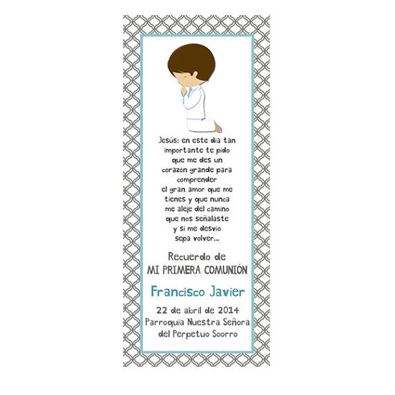 DIY PRINTABLE COMMUNION Cards  Bookmark Favors by GUGUKIDSDESIGN, $8.00