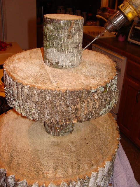 tree bark wedding cake stand diy tree cupcake stand cupcake stands tutorials and wedding 21249