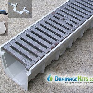 5 Quot Driveway Drain W Cast Iron Grates Regular Joe