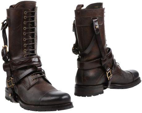 DOLCE & GABBANA > Brown Combat Boots.