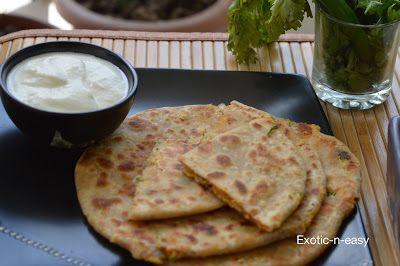 : Malai Besani Paratha (Cream stuffed bread)