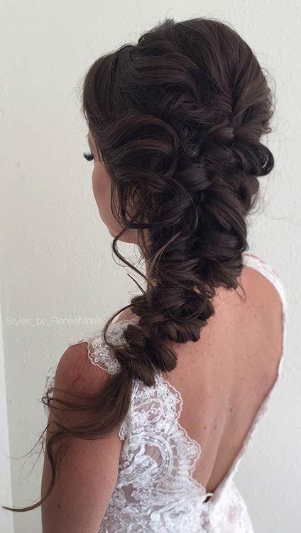 elegant boho hairstyle prom
