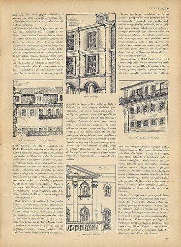 Os locais mais importantes onde se desenrolaram os episódios de 'Os Maias' de Eça de Queirós - Ilustração, No. 117, Novembro 1 1930 - 15