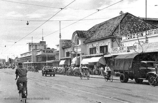 Pasar Toendjoengan (dibangun tahun 1923) circa 1949