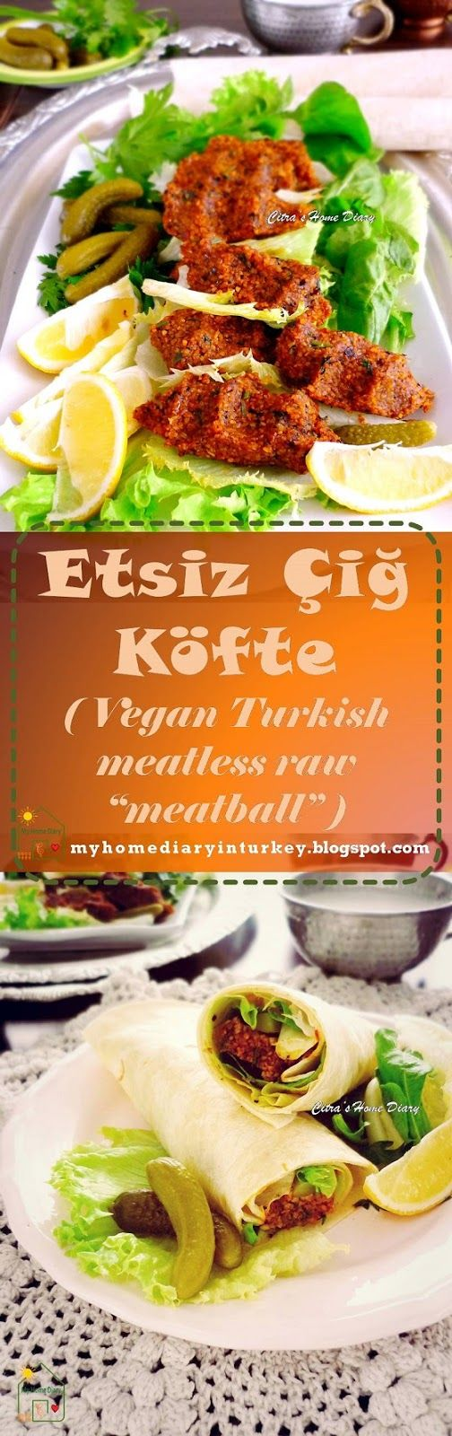 "Etsiz Çiğ Köfte / Turkish Meatless Raw  kofte ""meatball"" . #turkishfood #veganrecipe #bulgur #kofte #cigkofte #turkishstreetfood"