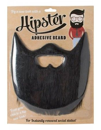 Fausse barbe hipster noire - Déguisement Hipster - Se déguiser en Hipster