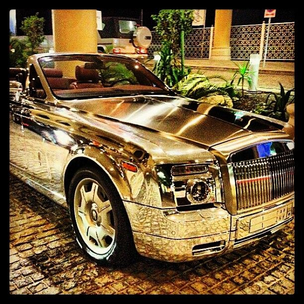 Chromed up, Rolls Royce Hanging out in Dubai