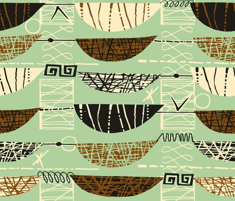 Mod Graphic Brown fabric by chicca_besso on Spoonflower - custom fabric