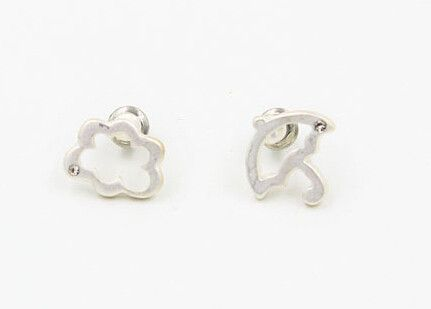 New !Fashion jewelry Umbrellas clouds with stone earrings best gift for women girl wholesale E052