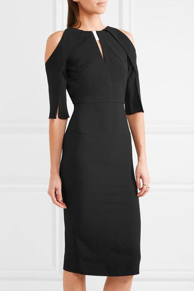 Roland Mouret - Keeling Cutout Crepe Dress - Black - UK