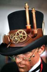 "Steampunk Fashion DIY Tips love the ""pipes"" on this particular hat"