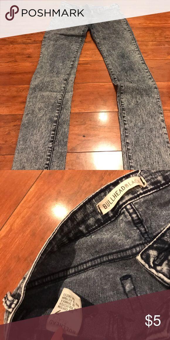 Distressed bleached Jean leggings Distressed bleached Jean leggings Bullhead Pants Straight Leg