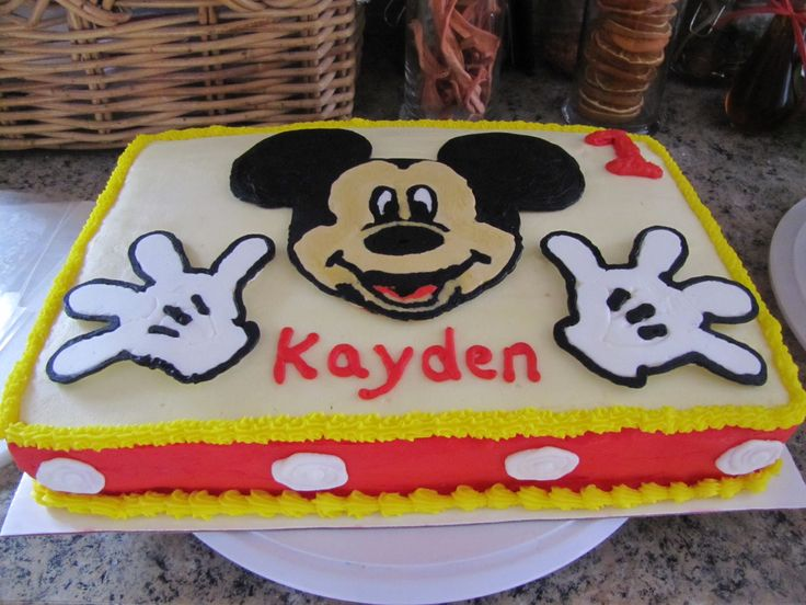 12 sheet cake mickey mouse party pinterest