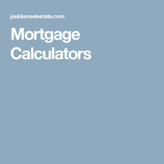 mortgage calculator without pmi