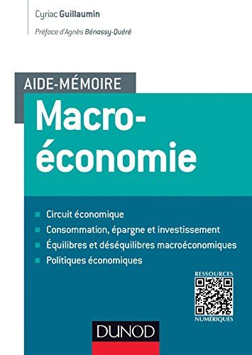 Un outil de travail qui synthétise les notions de base de la macroéconomie : investissement, dette publique, politique monétaire... Chaque concept ou formule est systématiquement rattaché à des exemples de l'économie réelle.