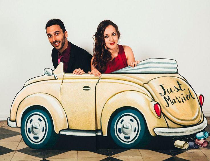 coche-de-boda-en-photocall
