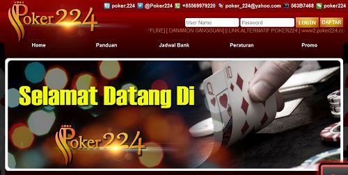 Poker224.com Agen Domino Online Terpercaya Serta Agen Bandar Kiu Online Indonesia Siapa yang tidak mengenal permainan kartu domino, dari mulai permainan di atas meja hingga berbentuk game online
